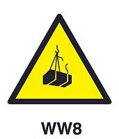 WW8 - Warning of suspended loads hazard