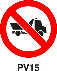 PV15 - No entry for heavy vehicles