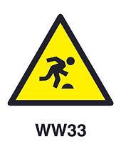 WW33 - Warning of tripping hazard