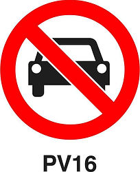 PV16 - No Entry for vehicles
