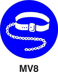 MV8 - Safety harnesses and lifelines shall be worn