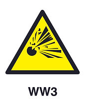 WW3 - Warning of explosion hazard