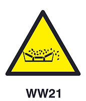 WW21 - Beware of material falling from moving conveyor belts