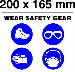 PPE Board - 200 x 165mm - Wear safety ge