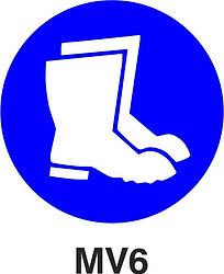 MV6 - Foot and leg protection against liquidsMV6 - Foot and leg protection against liquids shall be worn