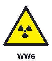 WW6 - Warning of ionizing radiation hazard