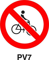 PV7 - Cycling prohibited