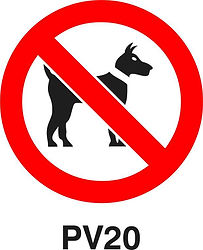 PV20 - Dogs prohibited