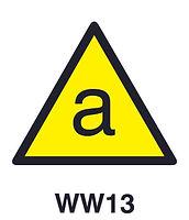 WW13 - Warning of asbestos hazard