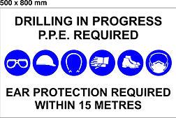 PPE Board - 500 x 800mm - Drilling in pr