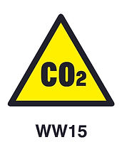 WW15 - Warning of carbon dioxide hazard