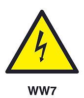 WW7 - Warning of electric shock hazard