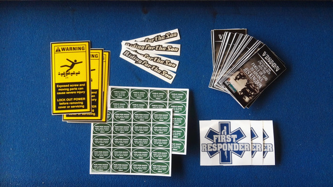 Digitally printed stickers