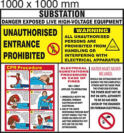 Substation board - 1000 x 1000mm Colour.