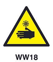 WW18 - Warning of hazard of cold burns
