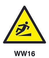 WW16 - Warning of hazard of slippery walking surface