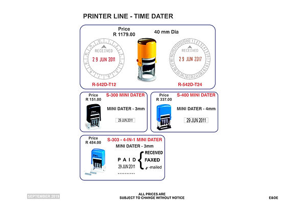Rubber Stamps Price List - Pg4