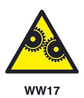 WW17 - Warning of hazard of moving machinery