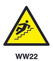 WW22 - Warning of hazard of slippery steps