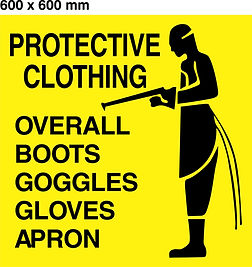 PPE Board - 600 x 600mm - Protective clo