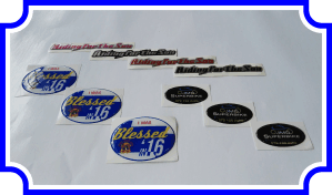 domed stickers