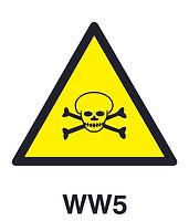 WW5 - Warning of poisonous substances hazard
