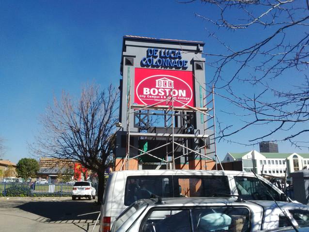 Boston college - Tower Signboard