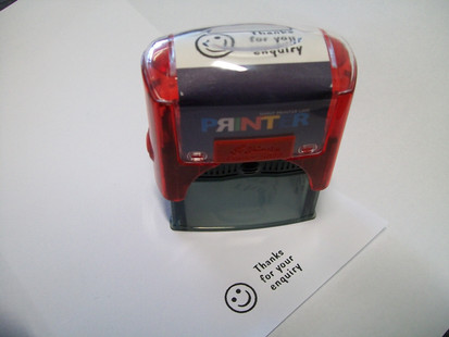 Rubber stamp - Thanks for your enquiry.J