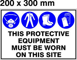 PPE Board - 200 x 300mm - This protectiv