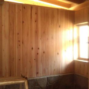 竹切り・風呂板張り完了