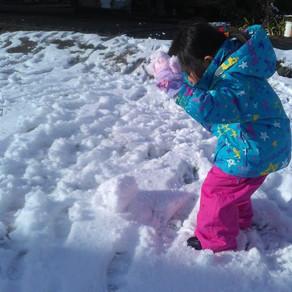 設営と雪と風呂作り20