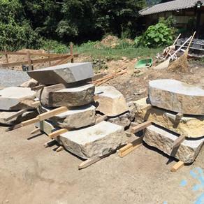 石場建ての基礎工事