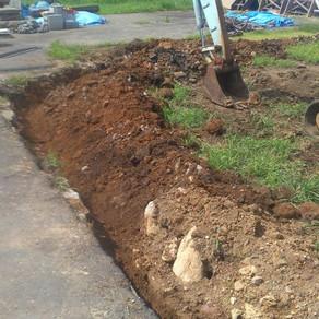水道管埋設 お庭工事10