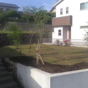 お庭工事完了