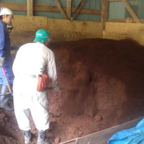 竹堆肥作り 建具作り