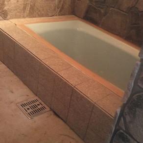 風呂作り34 天端塗り・エプロン