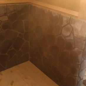 風呂作り33 目地詰め完了