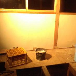 漆喰18 割れについて 風呂資材の搬入