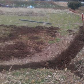 屋根の補修  自然農田んぼ畝立て⑦