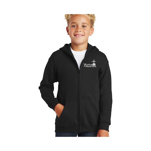 Gildan Full-Zip Hooded Sweatshirt (youth and adult)