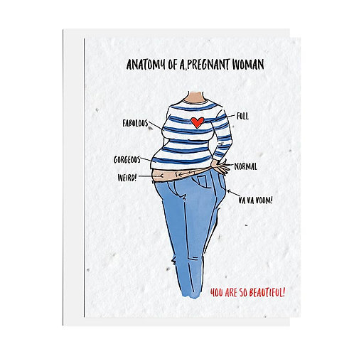 Wildflower seed card - Anatomy of a Pregnant Woman