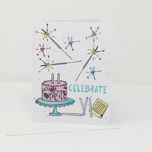 Wildflower seed card - Celebrate