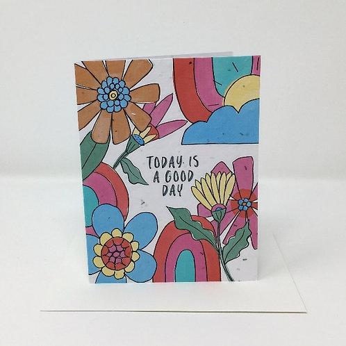 Wildflower seed card - Good Day
