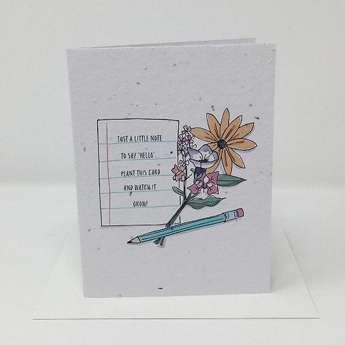 Wildflower seed card - Watch it Grow