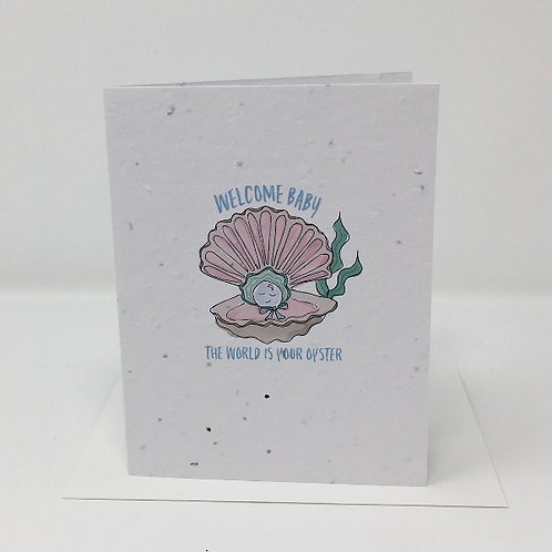 Wildflower seed card - Oyster