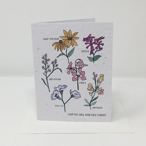 Wildflower seed card - Wildflowers