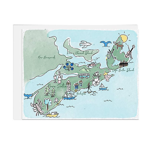 Wildflower seed paper - Map of Nova Scotia