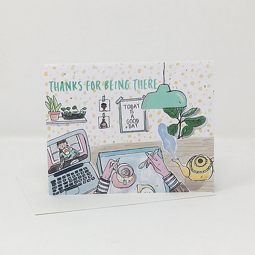 Wildflower seed card - Thanks for Being There