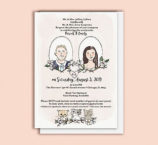 custom wedding invitation stationer