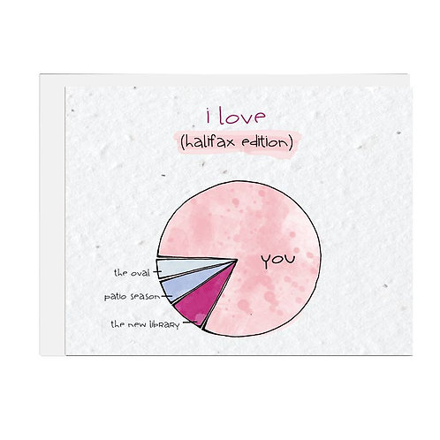 Wildflower seed card - I Love Halifax Pie Chart